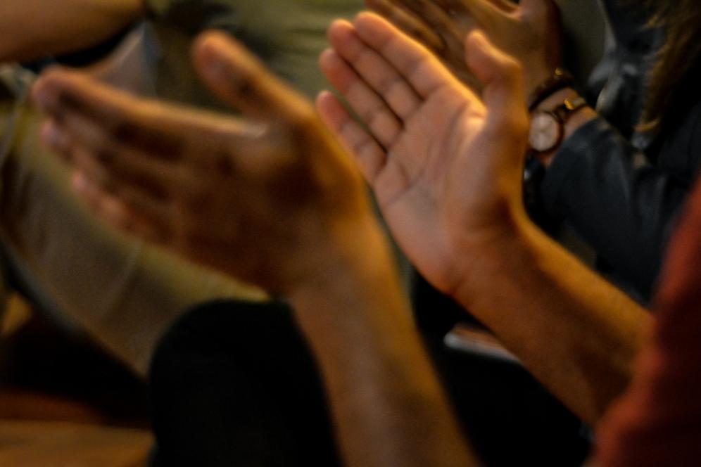 Clapping by Samantha Mae Sweeney for Sofar Sounds Philadelphia, Nic Grooming Barbershop - Philadelphia, PA