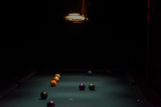 Pool game by Samantha Mae Sweeney for Sofar Sounds Philadelphia - Warehouse On Watts, Philadelphia, PA